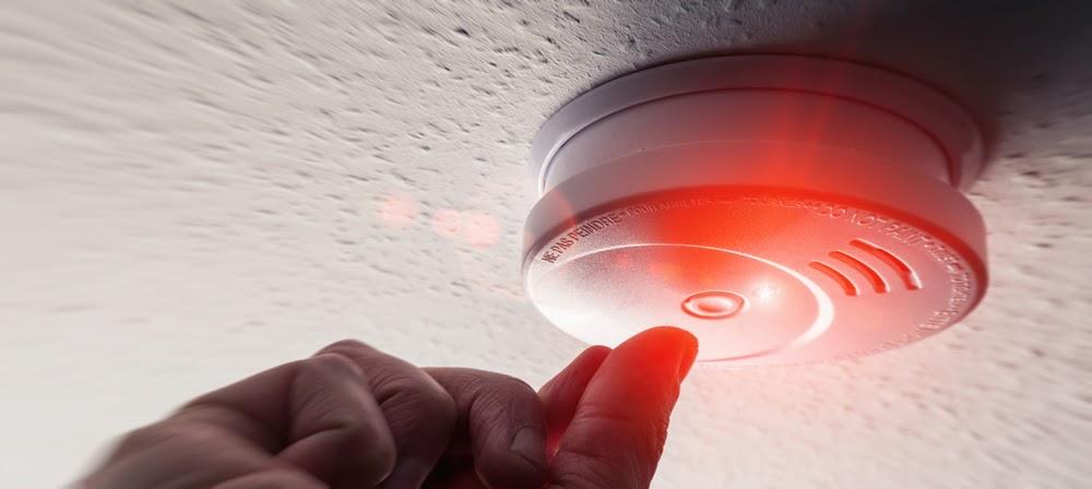 testing a smoke alarm